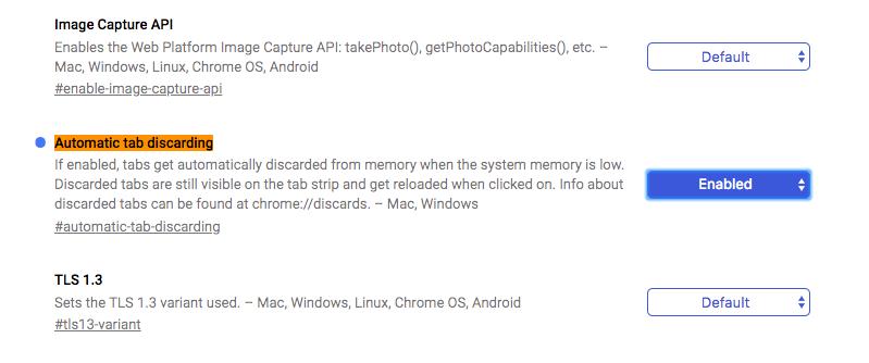 Chromeのタブのメモリを自動解放